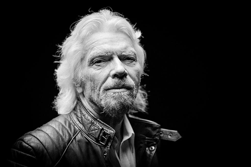 Headshot of Sir Richard Branson
