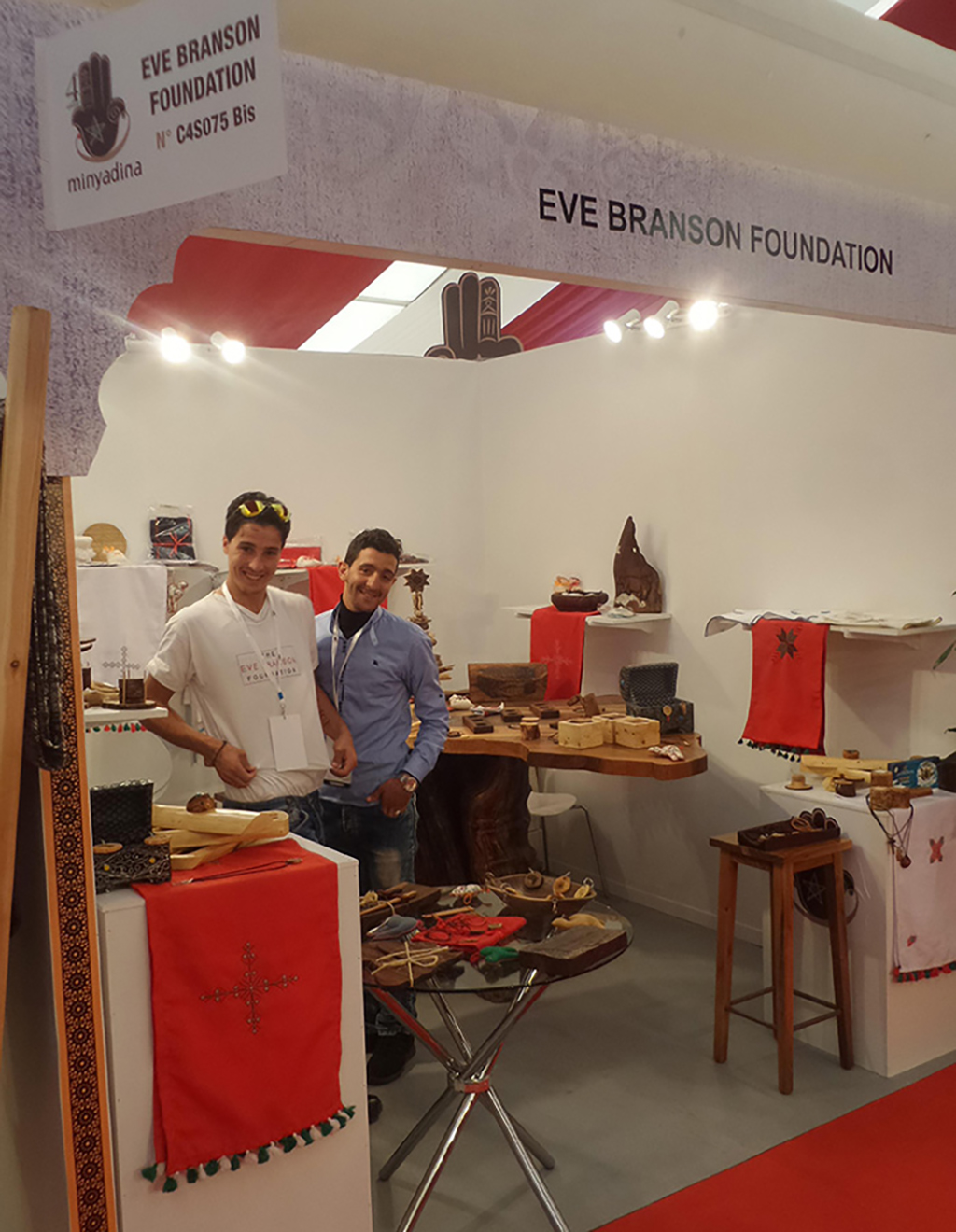 The Eve Branson Foundation booth at the Minyadina craft market