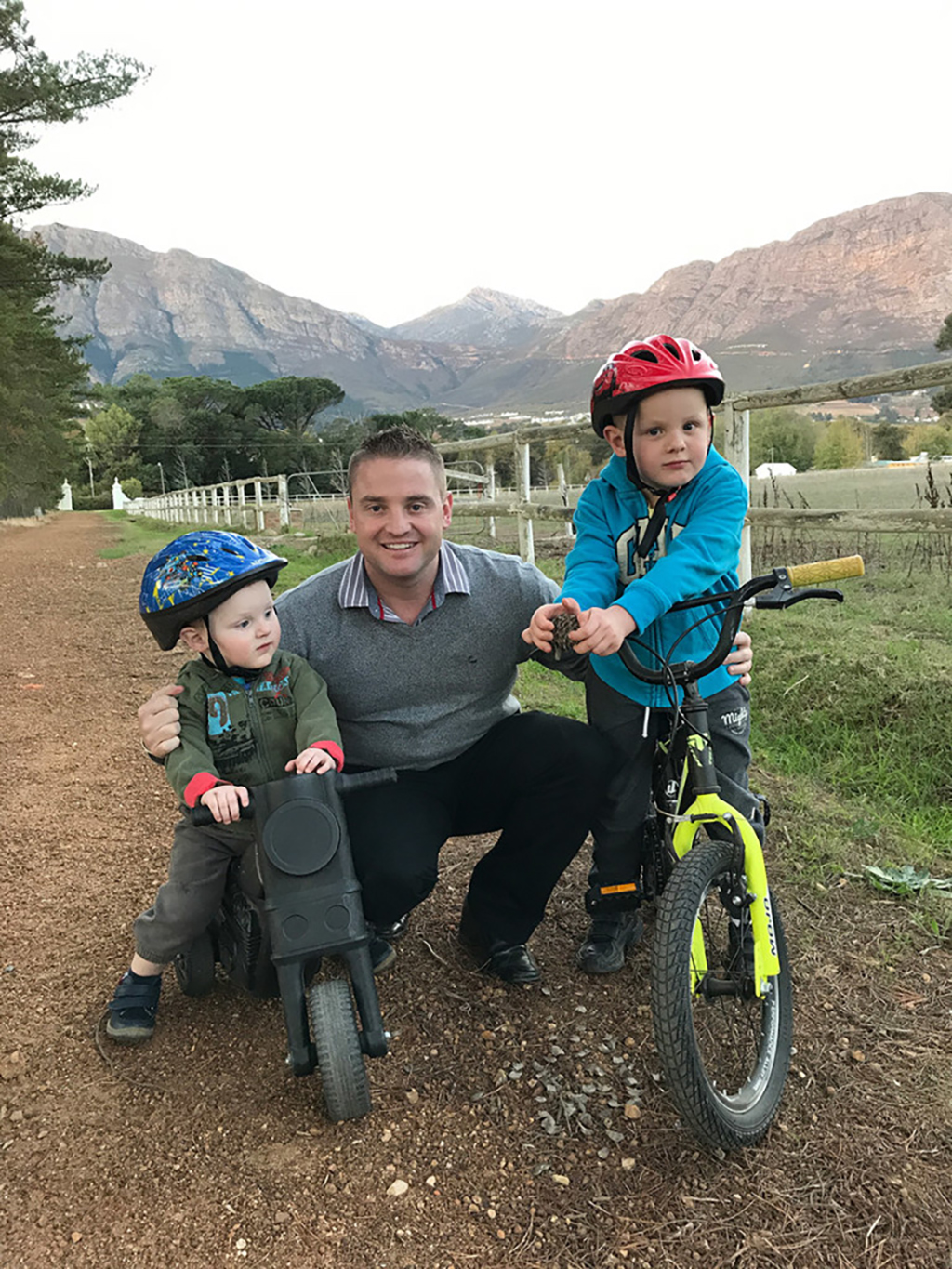 James Basson and his two sons
