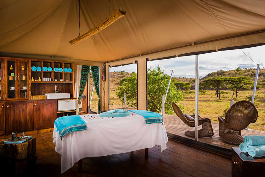 Mahali Mzuri spa treatment room