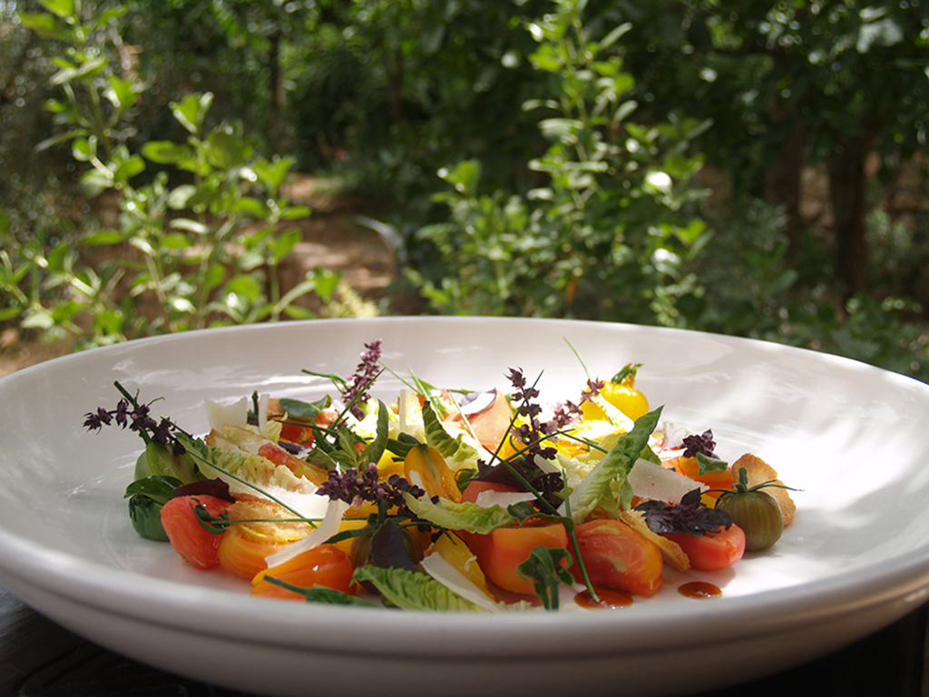 A plate of fresh vegetables