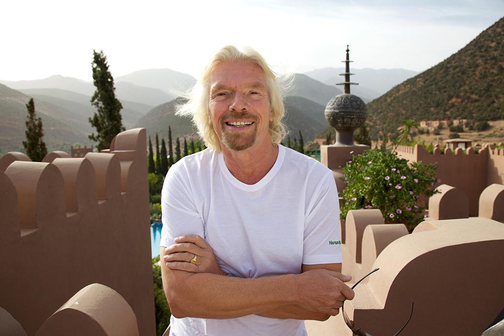 Richard Branson at Kasbah Tamadot