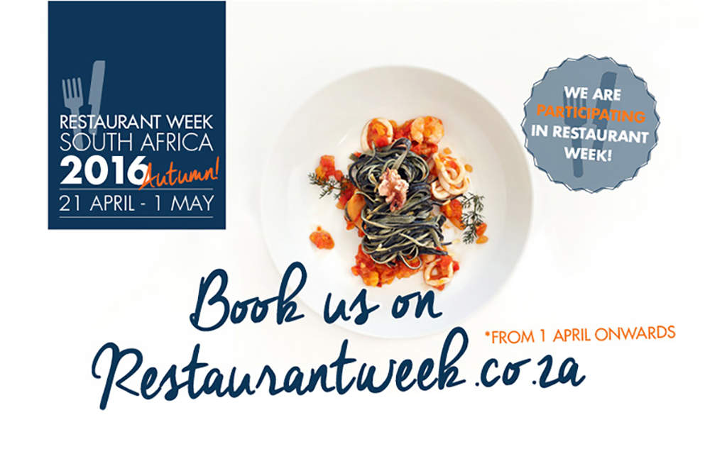 Restaurant Week South Africa from 21 April to 1 May 2016
