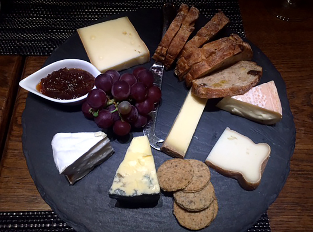 A cheeseboard at Mont Rochelle