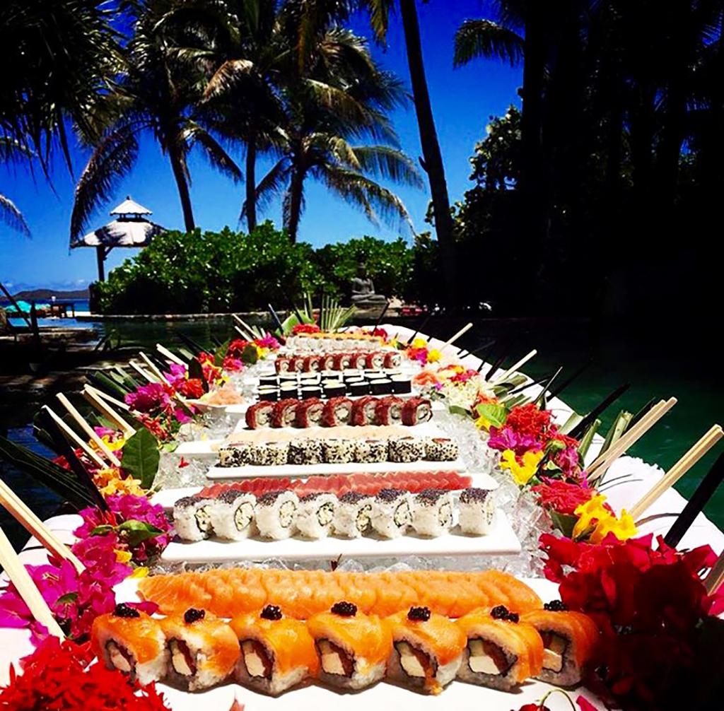 The Necker Island floating sushi boat