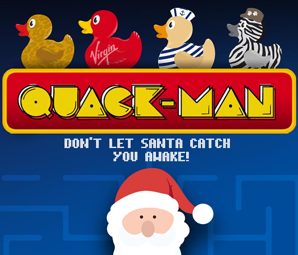 Virgin Limited Edition Quak Man Christmas Game