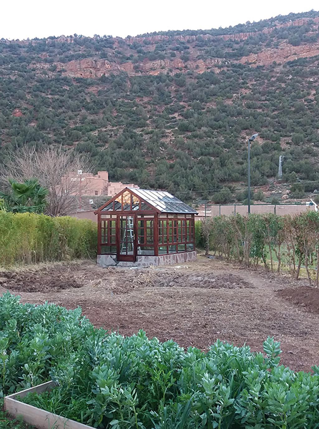 Greenhouse at Kasbah Tamadot