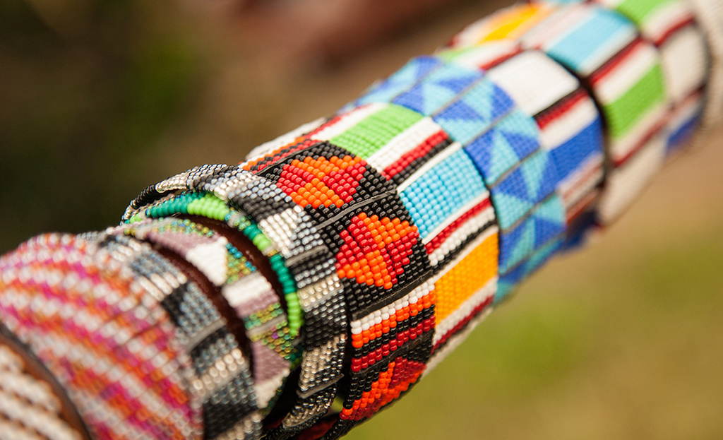 Colourful beaded bracelets from the Maa Trust Beading Project