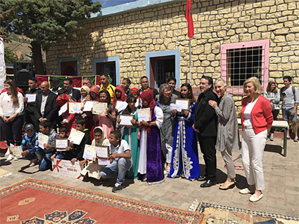 students at The Music School in Asni