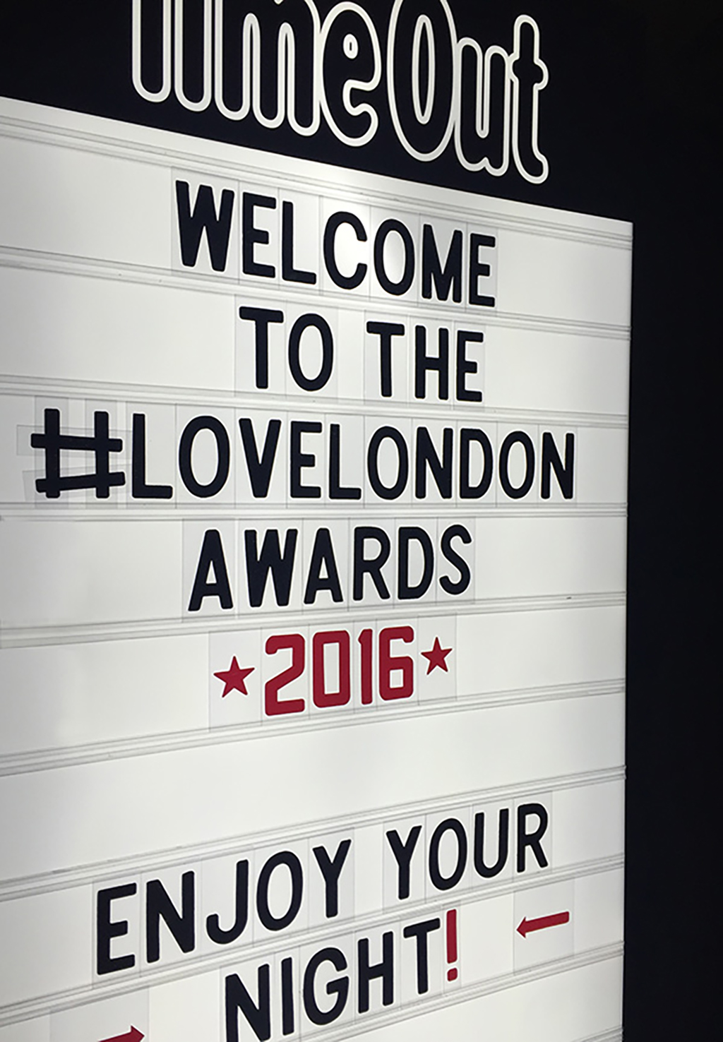 Time Out Love London Awards 2016 banner