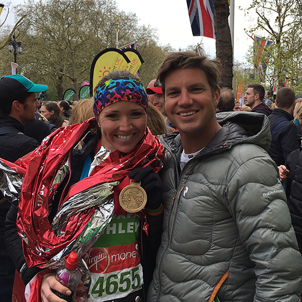 Ashley Crook at the London Marathon 2016