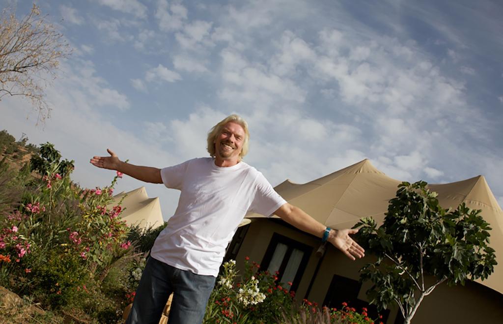 Sir Richard Branson at Kasbah Tamadot