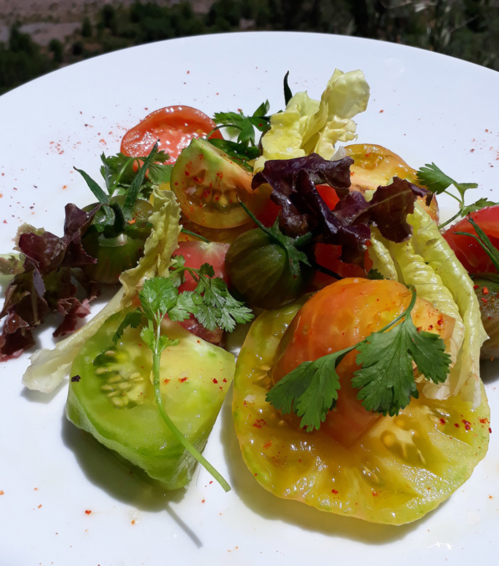 tomato salad at Kasbah Tamadot
